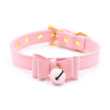 Lilicochan Sexy Rivet Alternative metal slave PU Leather Collar Bell Choker,BDSM Bondage Cute Necklace Sex Toys Erotic Cosplay