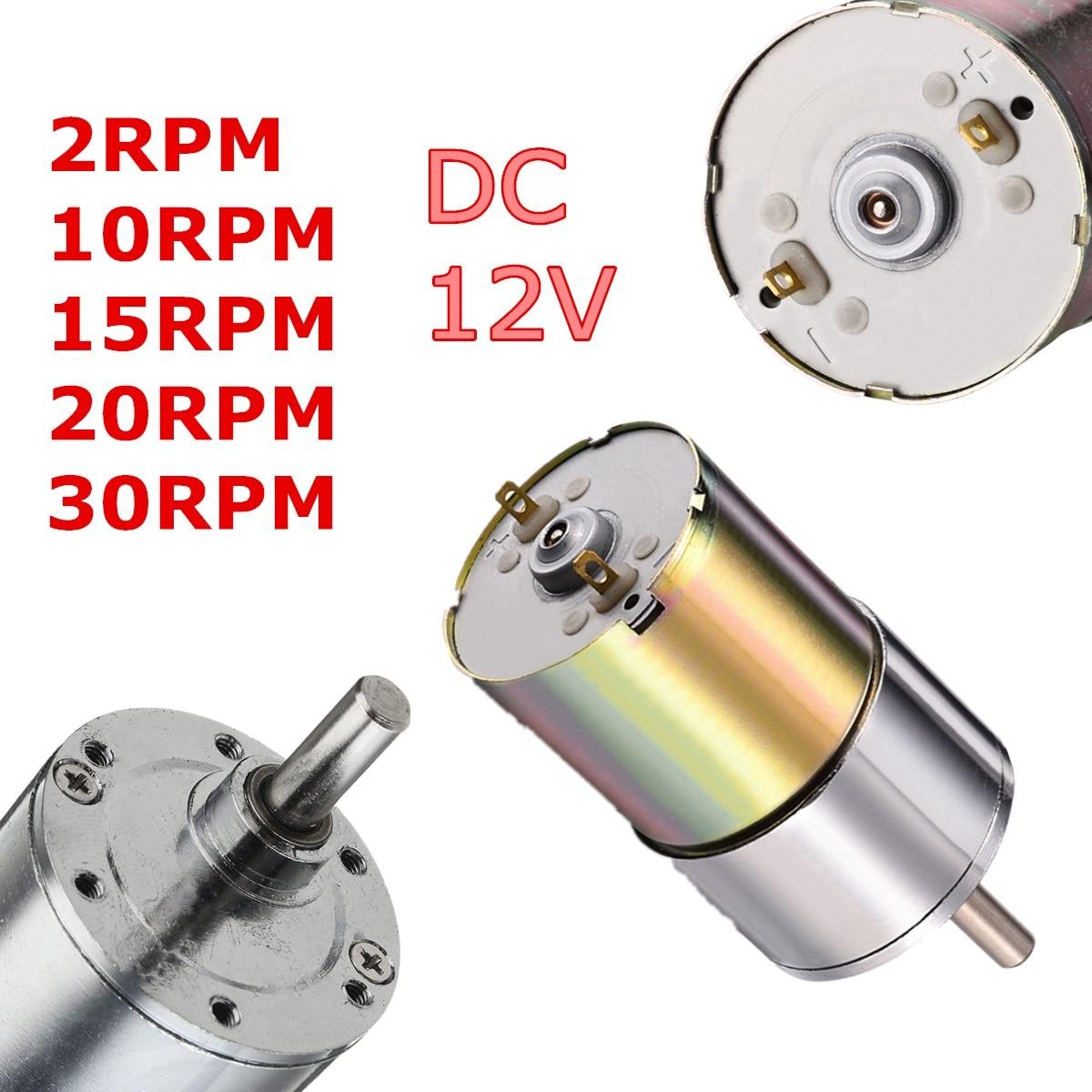 цена на Newest DC 12V 2-1000RPM Powerful High Torque Electric Gear Box Motor Speed Reduction