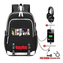 Akame ga Kill backpack USB Charge Bags Travel Laptop Shoulder Bag
