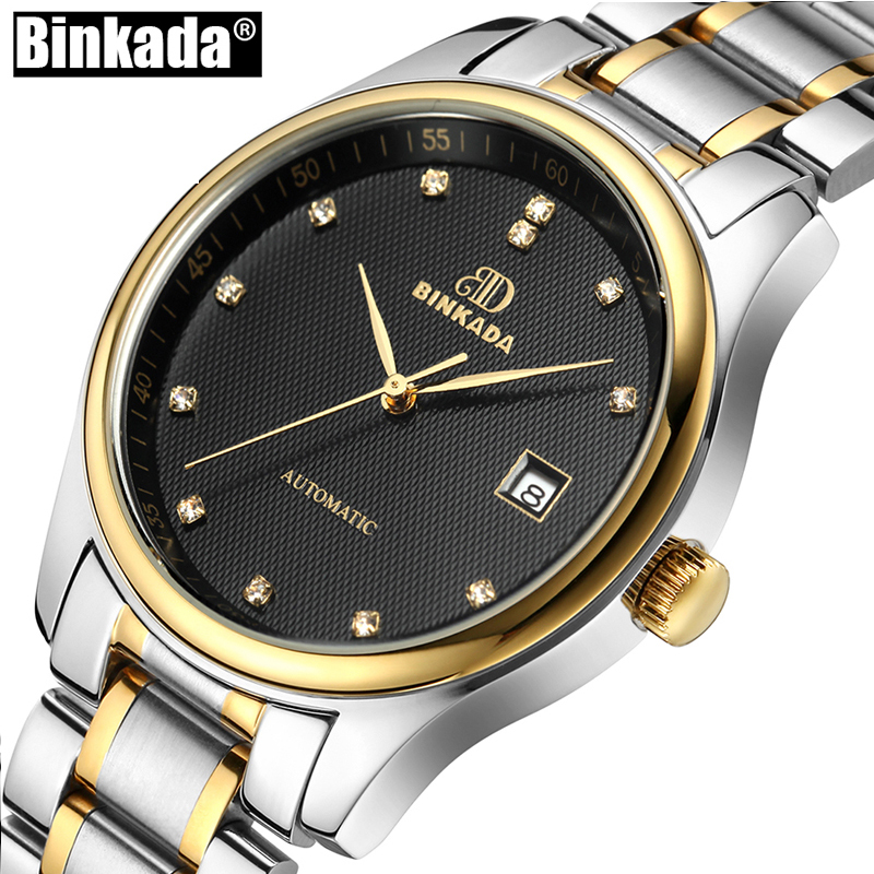 Luxury Mens Automatic Mechanical Watches BINKADA Men Casual Sport Watch Male Clock Wristwatch Relogio Masculino холти аксессуары