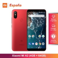 [Global Version for Spain] Xiaomi Mi A2 (Memoria interna de 64GB, RAM de 4GB, Gran pantalla 5,99,Camara dual 20 + 12 MP) Movil
