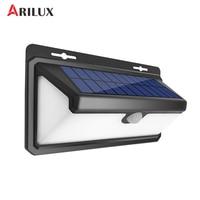 ARILUX 4.4W 100 LED Solar Lamp Light PIR Motion Sensor Outdoor Waterproof Garden Wall Light Security 3 Modes
