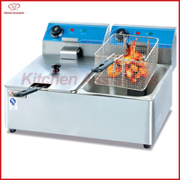 DF6L 2 2 tanks 2 bakests commercial electric fryer potato fryer machine for fried chicken fish