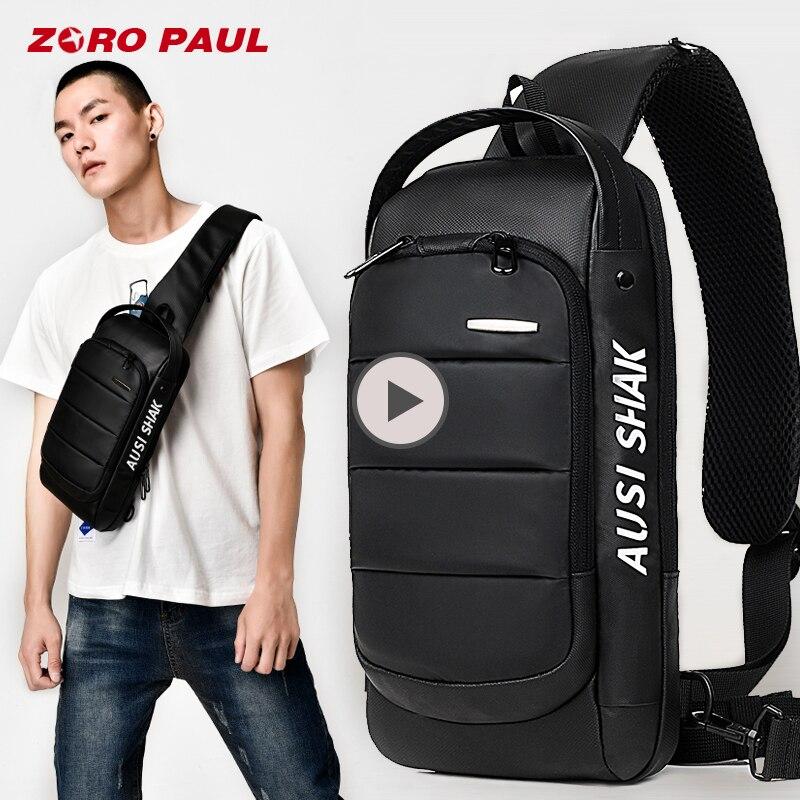 ZORO PAUL Casual Shoulder Crossbody bags for Men Large Capacity Man Travel Chest Bag Pack Anti Theft Messenger Bag Men сумка zoro paul zr1901 3