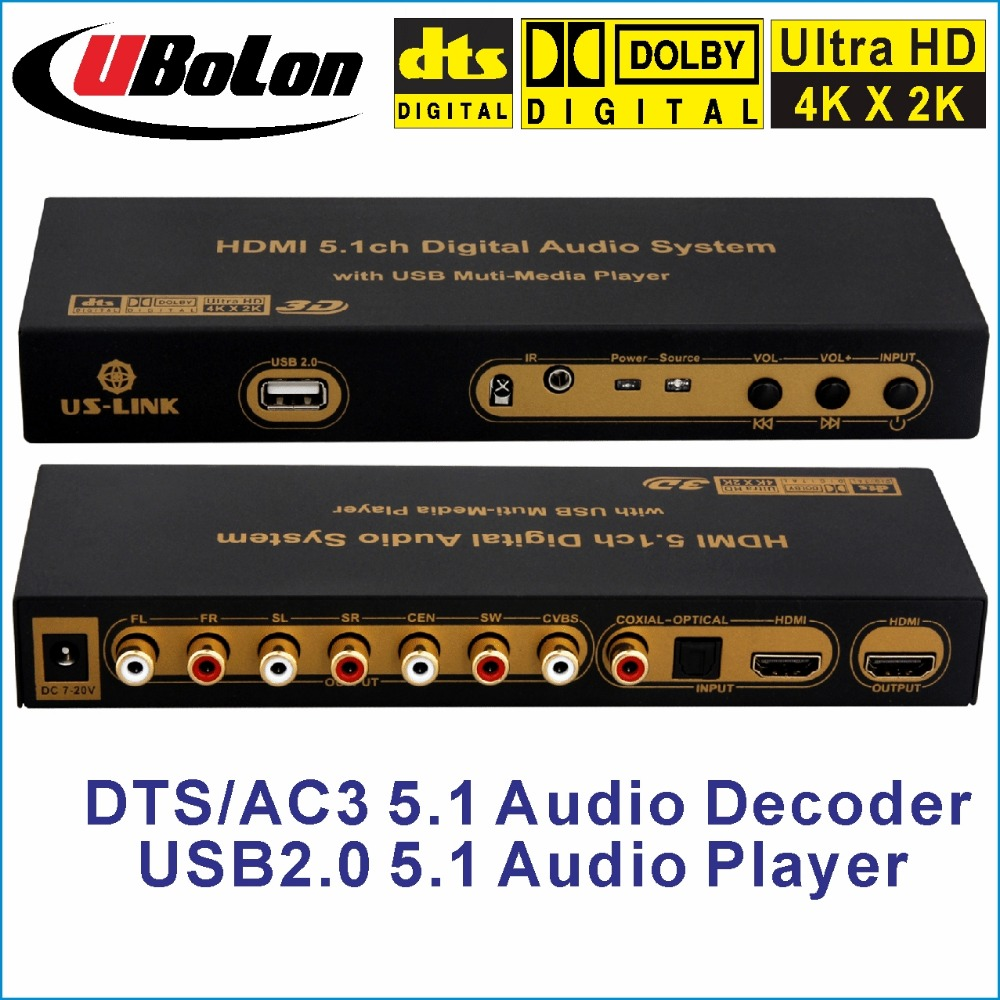 HD851A DTS/AC3 5.1 Audio Decoder/Converter 4K*2K HDMI to HDMI Extractor Converter Digital SPDIF Optical Coxial ARC home theatre us hdmi audio extractor support 5 1ch 4k 3d hdmi to hdmi ac 3 dts audio decoder for hdtv blu raydvd dvd ps3 xbox 360