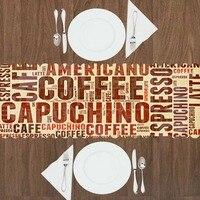 Outra Grande Marrom Café Capuchino Americano Writen 3d Padrão de Impressão Corredor Da Tabela Moderna para Cozinha Sala de Jantar Toalha de Mesa Caminhos de mesa     -