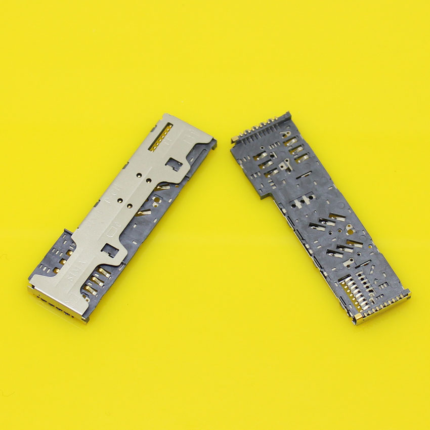 Replacement 3 in 1 Sim Card Socket connector tray slot holder for ZTE Q201T.2pcs/lot.