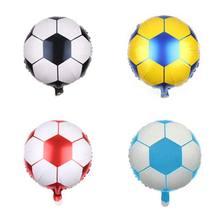 1 unids lote 18 pulgadas de fútbol globos de papel de aluminio de fútbol  globos niños globo pelotas de deporte fiesta de cumplea. cf32440b9e72a