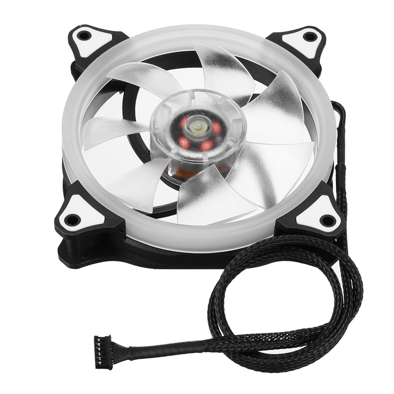 3PCS RGB Adjustable LED Cooling Fan 120mm With Controller Remote For Computer High Quality Computer Cooling Cooler Fan For CPU personal computer graphics cards fan cooler replacements fit for pc graphics cards cooling fan 12v 0 1a graphic fan