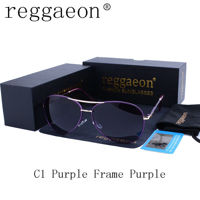 reggaeon New Brand fashion polarized sunglasses women Classic Retro Glasses Color Polaroid lenses Driving women sunglasses uv400
