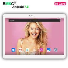 Free Shipping 10 inch Android 7.0 4G LTE tablet pc 10 Core 4GB RAM 64GB/128GB ROM 1920 * 1200 IPS Kid Gift MID Bluetooth Tablets