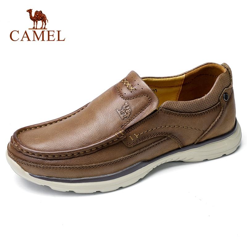 CAMEL High Quqlity Men Shoes Autumn Genuine Leather England Trend Male Footwear Set Foot Men s