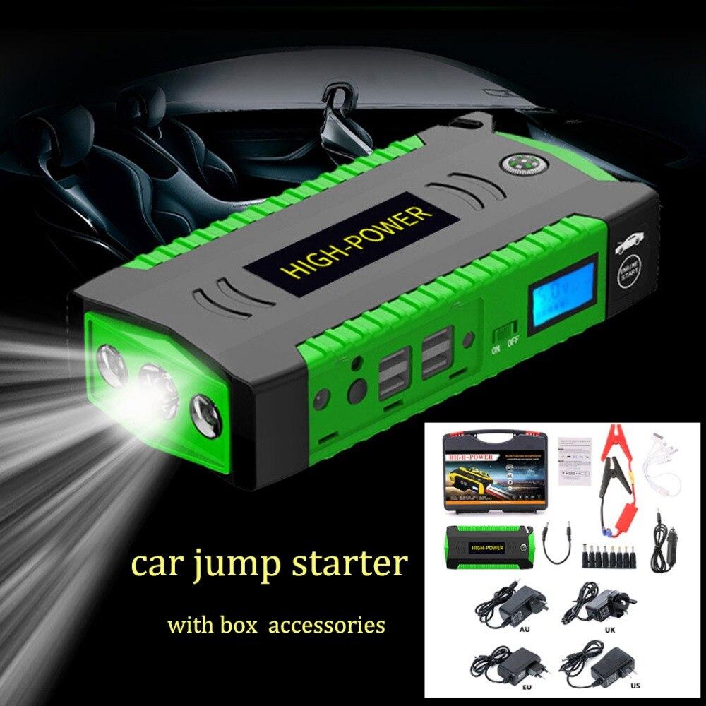 Étanche Multifonction Démarreur Voiture De Saut 82800 mAh 12 V 4USB 600A Portable amplificateur de batterie De Voiture Chargeur batterie externe Dispositif de Démarrage