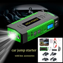 Waterdichte Multifunctionele Auto Jump Starter 82800 mAh 12 V 4USB 600A Draagbare Auto Batterij Booster Oplader Power Bank Start Apparaat(China)