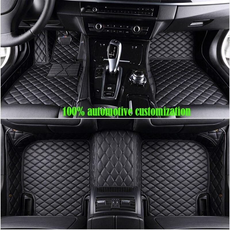 custom made Car floor mats for Hyundai solaris ix35 30 25 Elantra MISTRA Grand Santafe accent Veloster coupe Genesis Auto access 4pcs pu for hyundai ix35 ix25 mistra elantra car door kicking pad