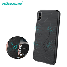 NILLKIN Magnetic Qi Wireless Charger Charging Receiver case for iPhone XS Max Case Cover 6.5 for iPhone XR Case 6.1