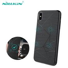 NILLKIN Magnetische Qi Draadloze Oplader Opladen Receiver case voor iPhone XS Max Case Cover 6.5 voor iPhone XR Case 6.1