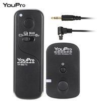 YouPro 2 4G Wireless Remote Control Shutter Release Transmitter Receiver 16 Channels For Canon 7D 5D