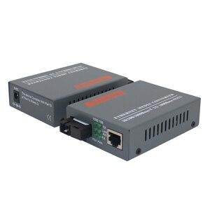 Image 4 - 2 Pairs HTB GS 03 A & B Gigabit Fiber Optical Media Converter 1000Mbps Single mode single Fiber SC Port 20KM Externe Netzteil