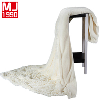 New Luxurious Large Warm Thick Sherpa Velvet Mink Throw Blanket Coverlet Reversible Fuzzy Microfiber All Season