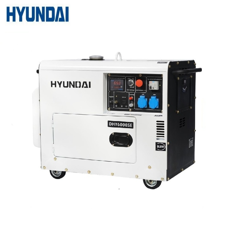 Diesel generator Hyundai DHY 6000SE Power home appliances Backup source during power outages stations