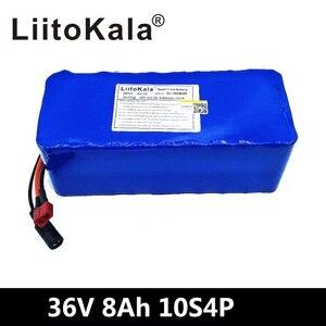 Image 4 - Liitokala 36 v 6ah 8ah 10ah 12ah bateria de bicicleta elétrica construída em 20a bms bateria de lítio 36 volts com 2a carga ebike bateria