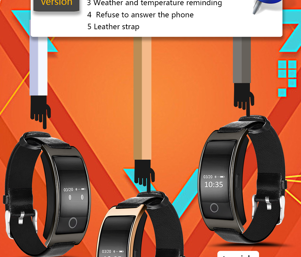 CK11S Wristband Blood Pressure Watch Blood Oxygen Heart Rate Monitor Pedometer IP67 Waterproof marigold 2