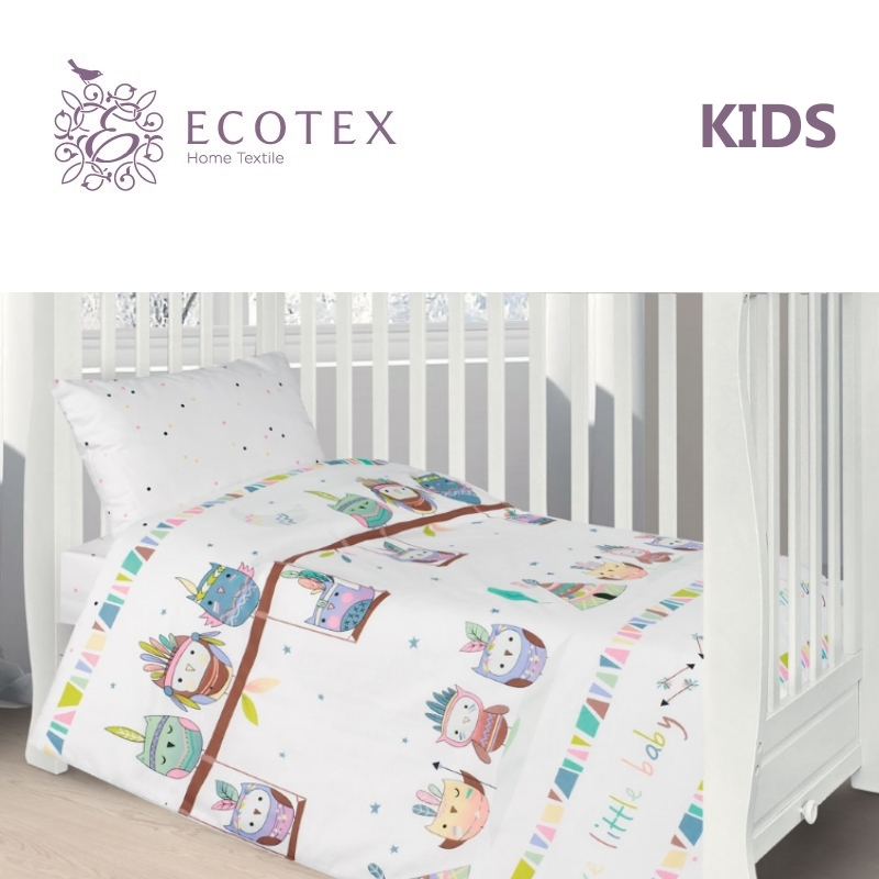 Фото - Baby bedding Little baby,100% Cotton. Beautiful, Bedding Set from Russia, excellent quality. Produced by the company Ecotex flower print bedding set
