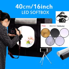 40X40X40CM Photo Softbox Dimmable Led Light Tent Photography Photo Box Kit Mini Tabletop Shooting Light box цена в Москве и Питере