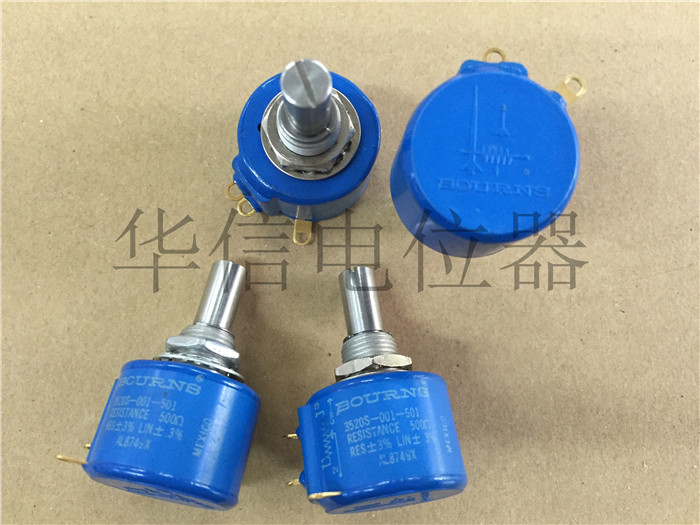 Original new 100% 3520S-001-501 500R 5 circle turn wirewound potentiometer (SWITCH) hellpot 7246 41 0 biaxial multi turn wirewound potentiometers 1k