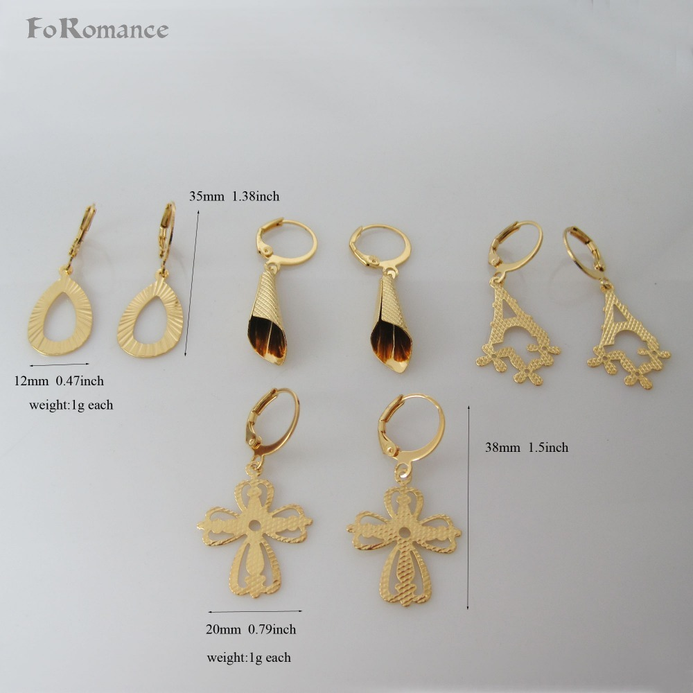 ORDER 10$ GET FREE SHIPPING/FOUR STYLES CARVED DANGLER - YELLOW GOLD GP TALL 1.5