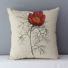 Vintage Decorative pillow Cotton Linen seat back cushion Living Room Bed Chair Seat Throw pillows 45x45cm Flowers Pillowcase M4(China)