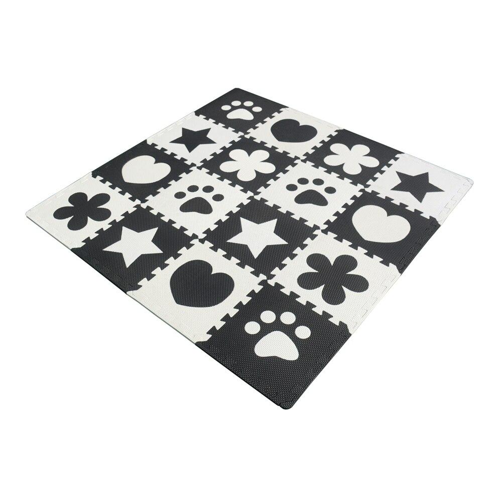 16pcs EVA Foam Puzzle Baby Play Mats Playroom Bedroom Rugs Interlocking Exercise Tiles Kids Floor Mats Carpet 30x30x1cm - Unisex