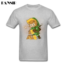 Rock Tee Shirt Men The Legend Of Zelda Poker Men T-shirt Custom Cotton Short Sleeve Group Clothes Tops