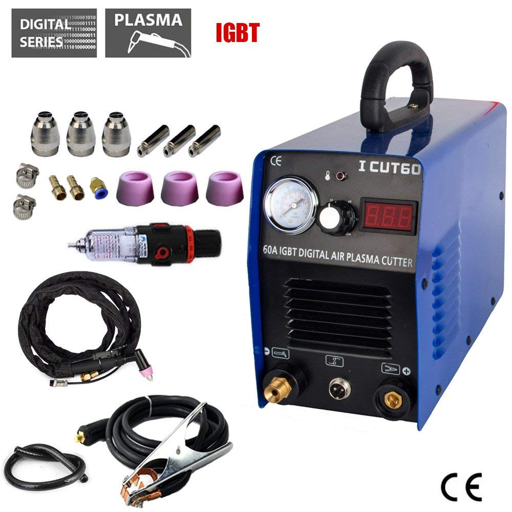 60AMP Plasma Cutter 110/220 V Com Tochas e Consumíveis de corte Plasma Da Máquina