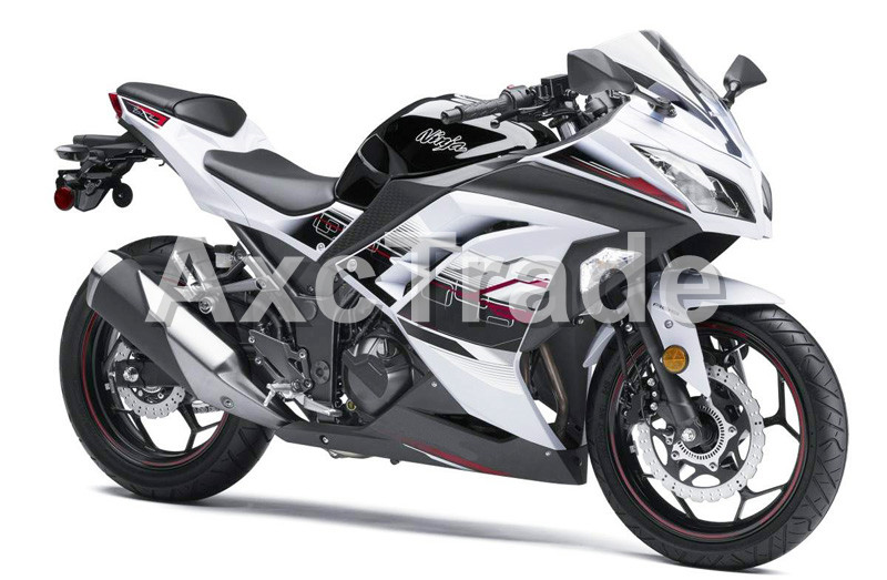 Motorcycle Fairings For Kawasaki Ninja 300 ZX300 EX300 2013 2014 13 14 ABS Plastic Injection Fairing Bodywork Kit Black White motorcycle fairing kit for kawasaki ninja zx10r 2006 2007 zx10r 06 07 zx 10r 06 07 west white black fairings set 7 gifts kd01