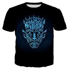 PLstar Cosmos 2019 Summer Men/Women 3d Print Night King Minimalist Tshirt Unisex Casual Tops Plus Size 7XL Drop Shipping