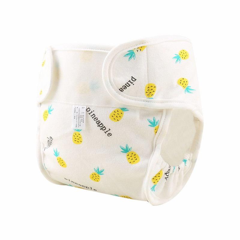 Print Cotton Baby Diapers Reusable Cloth Diaper Nappies Washable Infant Children Baby Diaper Pocket Cover Panties Nappy Changing