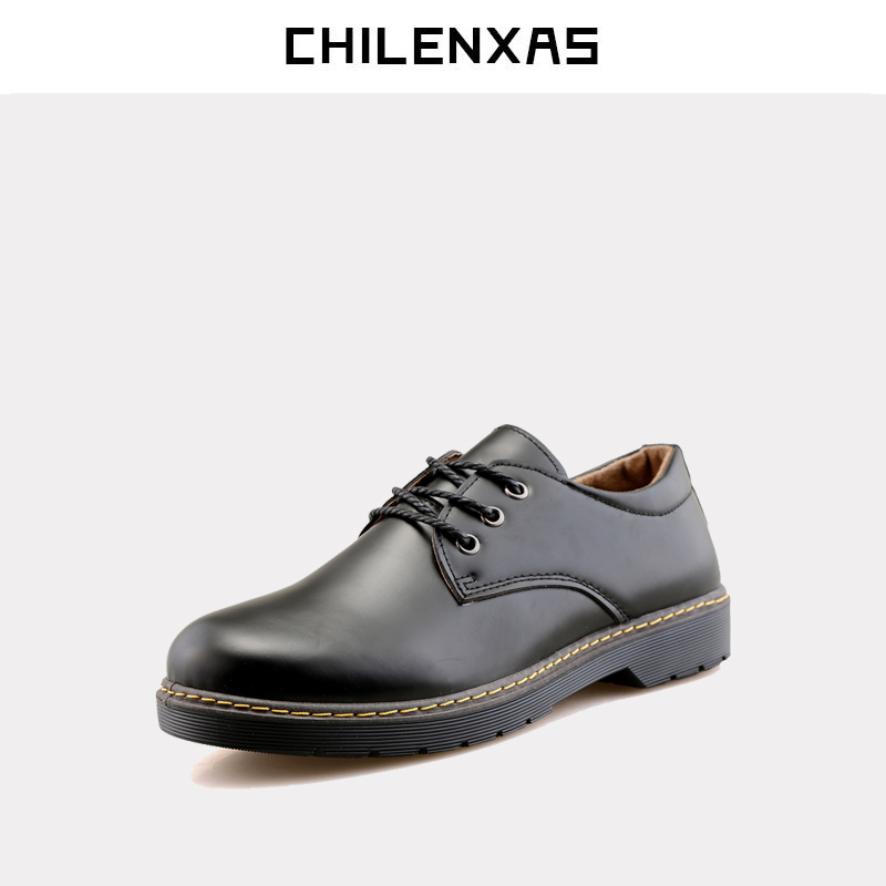 CHILENXAS 2017 new spring autumn  soft  Leather Breathable comfortable shoes Flats men casual fashion solid slip-on handmade baijiami 2017 new children solid breathable slip on pu casual shoes boys and girls spring summer autumn flat bottom shoes
