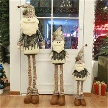 Рождество три размера Снеговики Санта Клаус лося растягивающиеся Плюшевые игрушки Рождественские мягкие елочные куклы мягкая игрушка