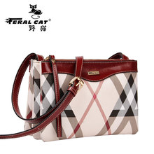 FERAL CAT Women Messenger Bags Designer Ladies Shoulder Bags PVC Leather HandBag 2017 Crossbody Bag For