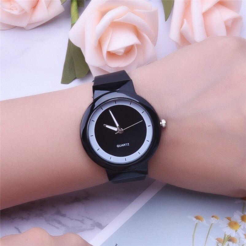Fashion women watches bracelet watch ladies Silicone Band Analog Quartz Round Wrist Watch Watches clock Relogio Masculino S20 (4)