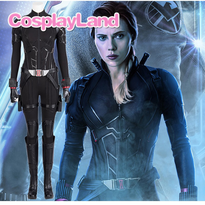 2019 Avengers 4 Endgame Black Widow Cosplay Costume Women Halloween Carnival Party Black Widow Avengers 4 Superhero Custommade Movie Tv Costumes Aliexpress