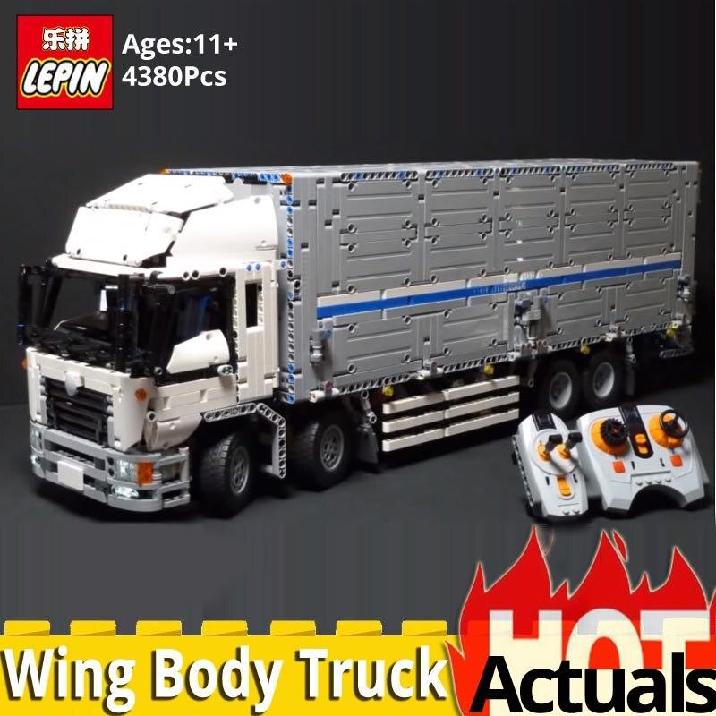 DHL LEPIN Technic 23008 télécommandé aile corps camion Moc 1389 voiture briques de construction blocs jouets éducatifs garçon cadeau d'anniversaire