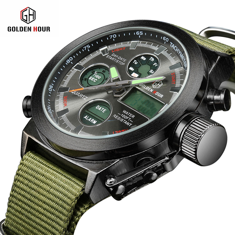 Sport Fashion Army Luxury Watch Men Famous Brand Function LED Digital Watch Male Clock Casual Wristwatch Montre Homme top brand ohsen fashion dual time led clock sports waterproof male watch digital anolog mens army wristwatch quartz montre homme