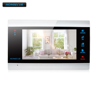 HOMSECUR 7AHD Snapshot & Recording Monitor BM705HD B for HDK AHD Series Video&Audio Home Intercom