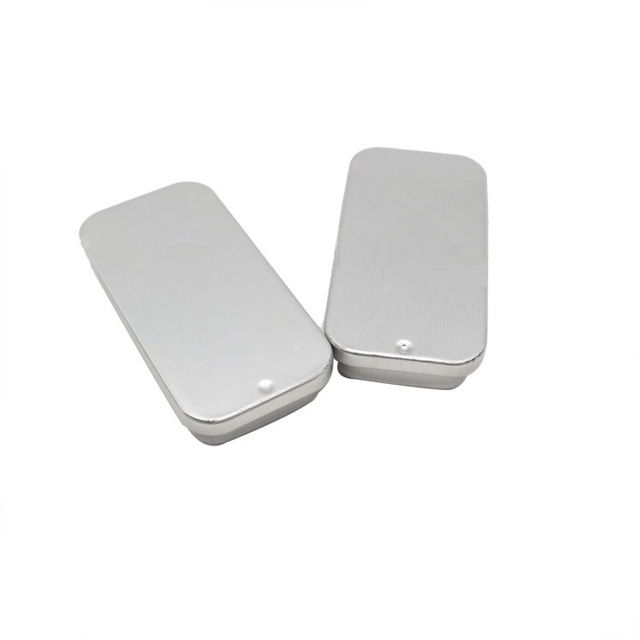 WincoPack Small Size Rectangle push pull Tin Box metal pencil box with sliding lid
