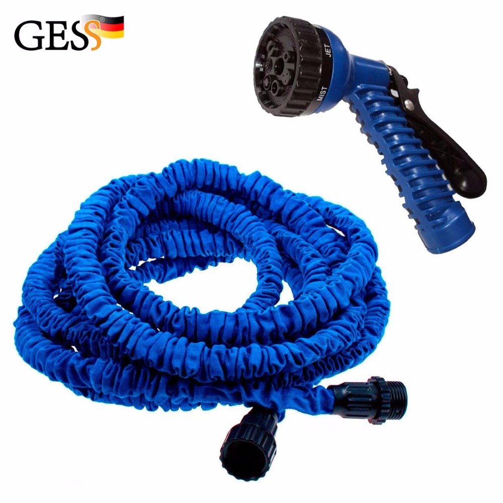 Gusse 7,5 metr Stretched Expandable Supplies Water Hose with Spray latex drip irrigation  for home garden 7,5 metr Gess samarskiy istok water supply kit dvk 25 kit outdoor water drip irrigation system withwatering kit for garden greenhouse plant
