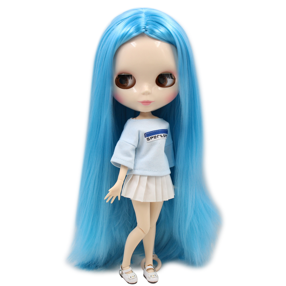 ICY Nude Factory Blyth Doll Series No BL6023 Blue hair white skin JOINT body Neo