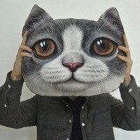 1 pc Cartoon Kreatywny Symulacji 3D Sowa Koty Meow Gwiazdkowe Poduszki Poduszki Wysłać Dziewczyny Urodziny Prezenty Zabawki Pluszowe Lalki